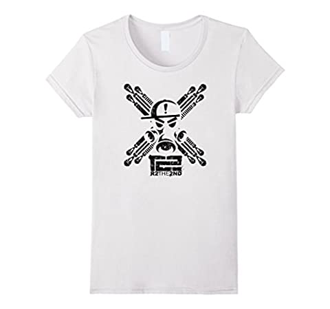 Women's R2the2nd Gas Mask and Bombs XL White (Bomb Of Gas)