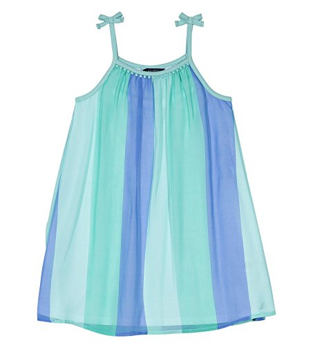 Dress Aqua Kids - Nautica Girls' Toddler Spaghetti Strap Fashion Dress, Bright Aqua, 2T