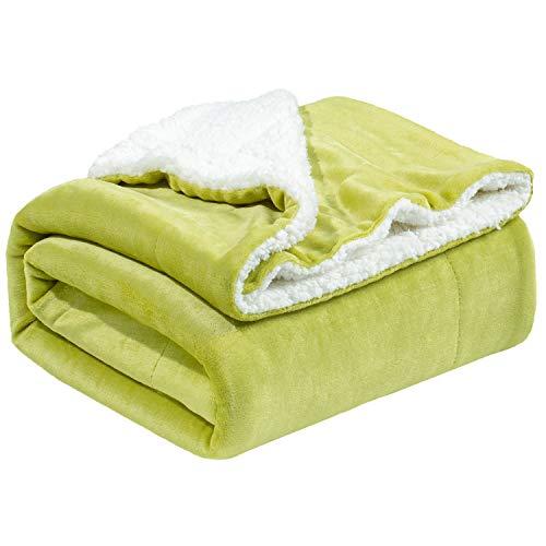 Bedsure Sherpa Fleece Blanket Throw Size Olive Green Plush Throw Blanket Fuzzy Soft Blanket Microfiber
