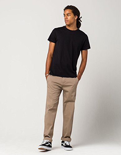 RSQ New York Slim Straight Stretch Chino Pants, Dark Khaki, 31X30