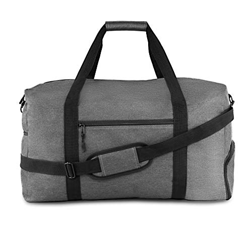Winter & Co. stilvolle Sporttasche Männer mit Schuhfach und Trinkflaschenhalter – XXL Groß 44 Liter Handgepäck - Hochwertige Canvas Weekender Tasche Reisetasche für Herren (grau)