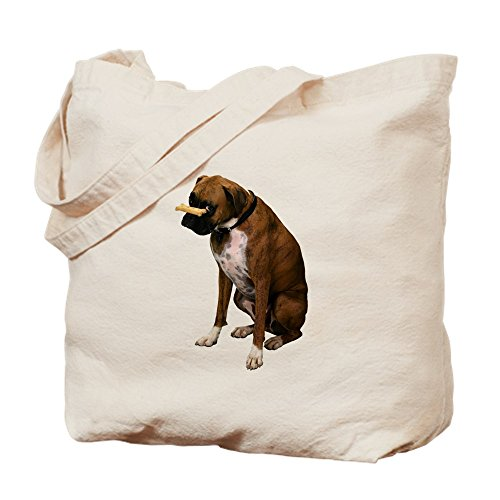 CafePress - Brindle Boxer Photo - Natural Canvas Tote Bag, Cloth Shopping Bag Brindle Natural