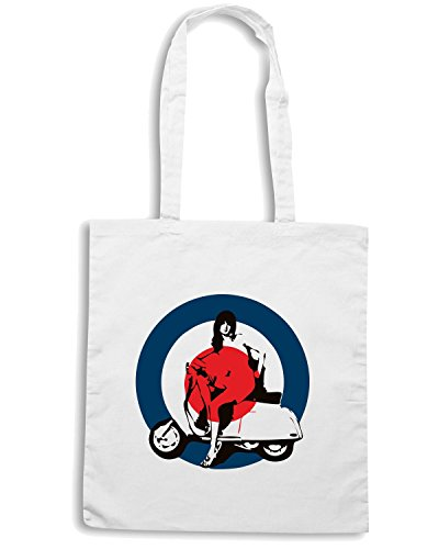 T-Shirtshock - Bolsa para la compra OLDENG00162 lazy sunday Blanco