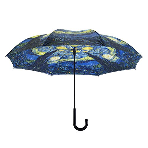 GALLERIA Van Gogh Starry Nt Rvrs Cl St Umbrella, 1 EA