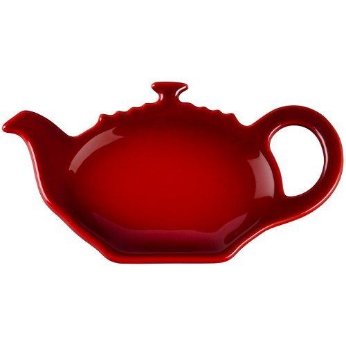 Le Creuset Cherry Stoneware Tea Bag Holder, Set of 4 by Le Creuset (Image #1)