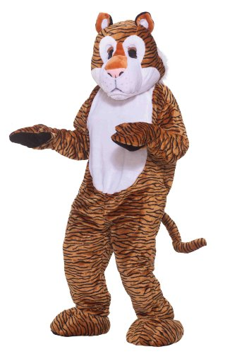 [Forum Deluxe Plush Tiger Mascot Costume, Multi, One Size] (Professional Mascot Costumes)