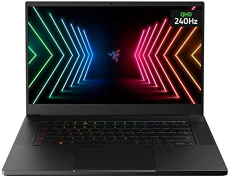 "Razer Blade 15 Advanced Gaming Laptop 2021: Intel Core i7-10875H 8-Core, NVIDIA GeForce RTX 3080, 15.6"" QHD 240Hz, 32GB RAM, 1TB SSD - CNC Aluminum - Chroma RGB - THX Spatial Audio - Thunderbolt 3"