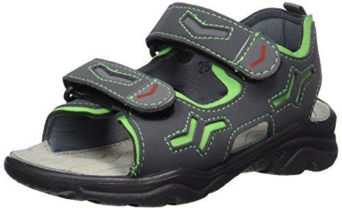 Ricosta Boys' Alsaco Sandals, Grey (Antra/Neongrün 562), 31 31 EU ()