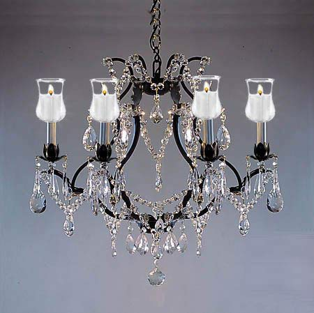 on sale fc97d 60548 Crystal Chandelier Lighting Chandeliers W/Candle Votives H19 ...