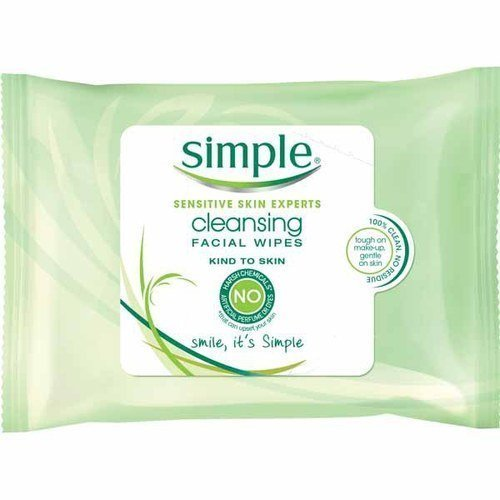 Simple Sensitive Skin Makeup Removing Cleansing Wipes No Harsh Chemicals 3 Packs of 25 Wipes
