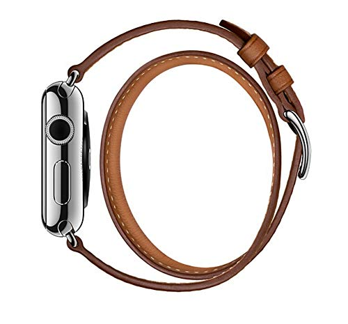 BETTER-NEE Compatible with iWatch Band 38mm 40mm,Replacement Band Compatible with iWatch Series 4 (40mm) Series 3 Series 2 Series 1 (38mm) Sport and Edition, Brown