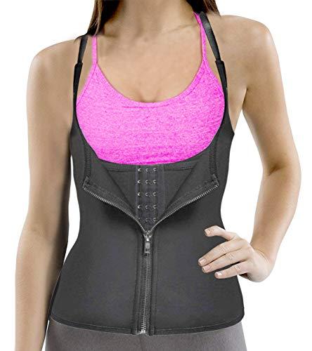 a80dba43d0b Funny City Womens Shapewear Underbust Corset Waist Trainer Cincher Weight  Loss Neoprene Sauna Sweat Waist Trainer