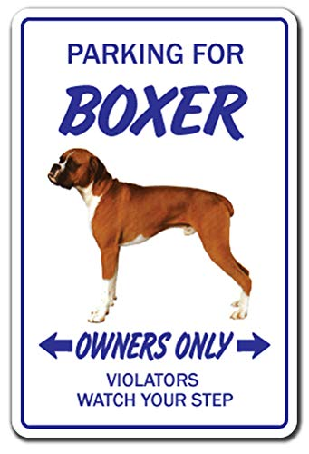 (BOXER DOG Sign pet parking breeder lover groomer animal | Indoor/Outdoor | 12