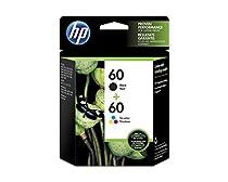 HP 60 Black & Tri-Color Original Ink Cartridges, 2 pack (N9H63FN)