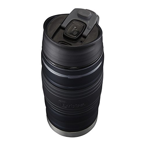 Bubba HERO Fresh Insulated Stainless Steel Travel Mug with Grip, 12 oz, Black by BUBBA BRANDS (Image #1)