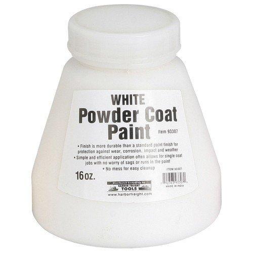 (HFT 933070 16 Oz Paint-White Powder Coat Pain,)