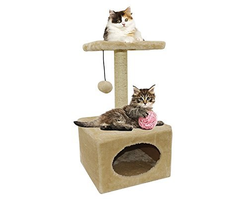 MareLight Small Cat Tree Sisal Scratching Post Furniture Playhouse Pet Bed Kitten Toy Cat Tower Condo For Kittens - To Keep Your Cat Healthy And Happy