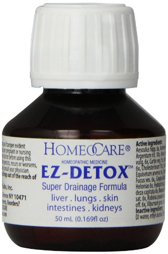 Homeocare Labs EZDetox Super Drainage Formula for Liver Lungs Skin Intestines and Kidneys 169 Fluid Ounce