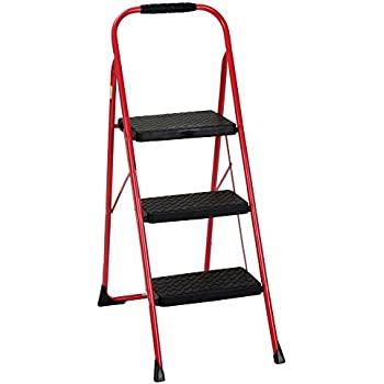Amazon Com Livingsure 3 Step Ladder Stool Combo With