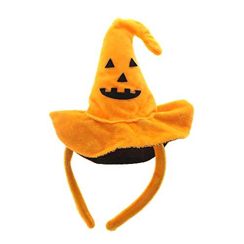 cici store Women Kid Halloween Hair Hoop Cap Pumpkin Hat Headband Party Costume Cosplay New]()