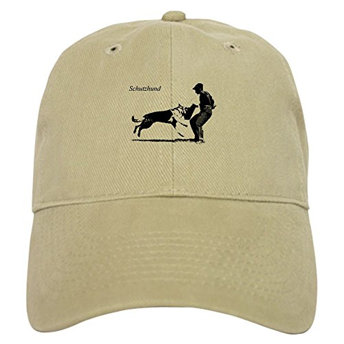 CafePress SCHUTZHUND,German Shepherd Cap Baseball Cap with Adjustable Closure, Unique Printed Baseball Hat Khaki