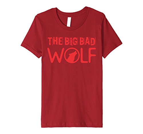 Kids Wolf (Big and Bad) Gift Halloween Costume Idea A-Type 12 Cranberry