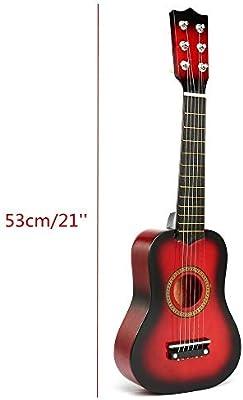YBWEN Guitarra Portátiles de 21 Pulgadas 6 Cuerdas Guitarra ...