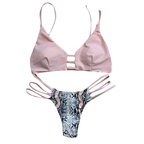 Teresamoon-Swimwear Women's Plus Size Swimsuits Tummy Control One Piece Swim Dresses Bathing Suit Pink -