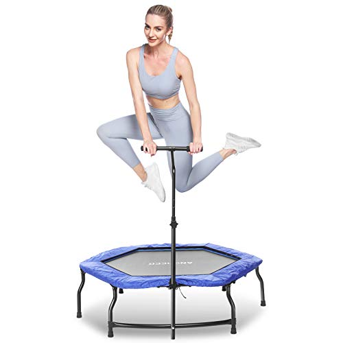 ANCHEER Trampolines,Folding Mini Trampoline Rebound Recreational Exercise Trampoline,Jump Trampoline for Kids and Adults Indoor&Outdoor (Blue)