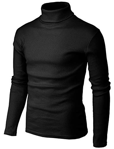 H2H Mens Slim Fit Turtleneck Pullover Sweaters Basic Tops Knitted Thermal