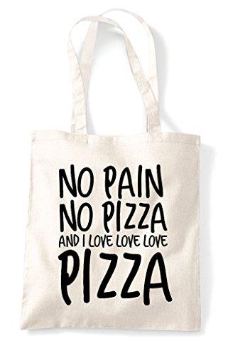Pizza Pain Bag No I And Food Tote Shopper Statement Natural Love RpWx7qg