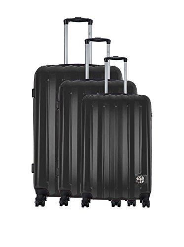 LES P'TITES BOMBES Set de 3 trolleys rígidos Negro