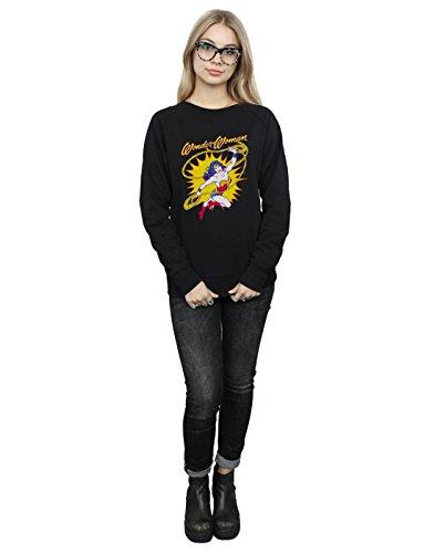 Negro Comics Leap De Wonder Camisa Dc Mujer Entrenamiento Woman q7d8gOzp