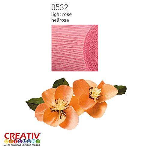 Hellrosa CREATIV DISCOUNT/® NEU Floristen Krepp-Papier 50x250cm