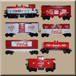 K-LINE TRAINS COCA COLA CLASSIC TRAIN SET WITHOUT TRANSFORMER K-1805B ()