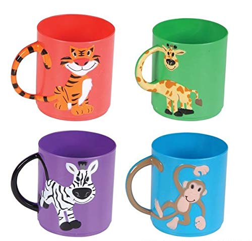 Rhode Island Novelty Animal Mugs Assorted Color and Design | 12 Pack |