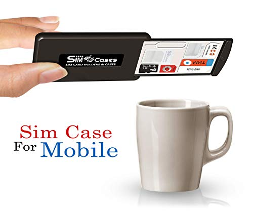 SIMCases Case Holder for SIM Cards & Memory Cards, Drawer Design Storage Case with 3M Grip Pad Technology + 3 SIM Card Adapters 1 iPhone Pin, Holds Any SIM Micro - Case Sim Nano