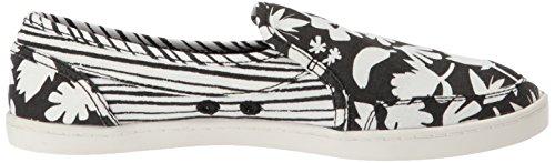 Sanuk Dames Paar O Dobbelstenen Prints Loafer Plat Zwart / Wit