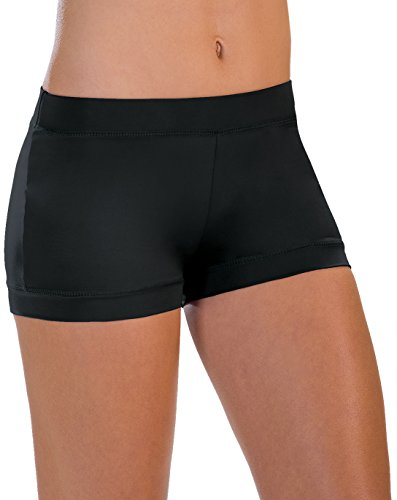 Motionwear Banded-Leg Boy-Cut Shorts, Black, Small Adult