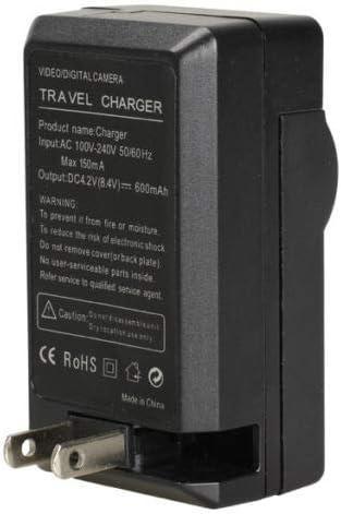 /& Charger Set for Nikon EN-EL10 Digital Camera Battery /& Charger Kit 1200mAh, 3.7V, Li-Ion Replacement Nikon S520 Battery 2-Pack