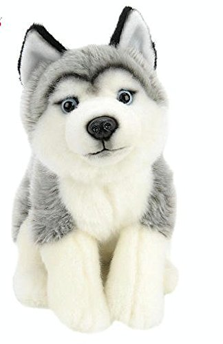 Toys R Us Animal Alley 10 inch Stuffed Husky - Gray and White pack of 1