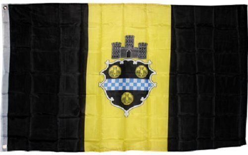 ALBATROS City of Pittsburgh Flag 3 ft x 5 ft ft Seal Emblem Banner Pennsylvania PA Yellow Black for Home and Parades, Official Party, All Weather Indoors Outdoors]()