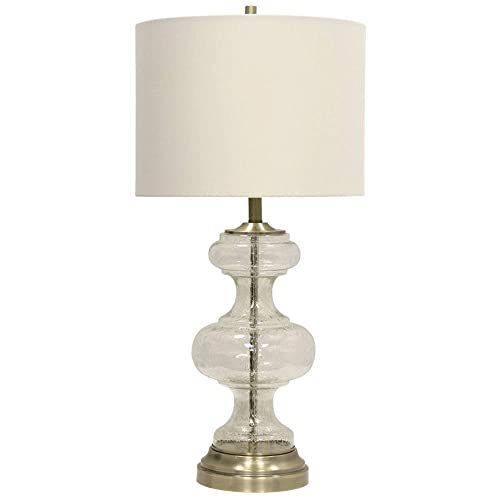 Abode 84 33-Inch Glass Metal Antique Transitional Table Lamp