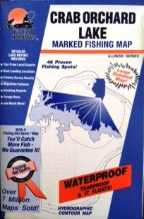 Crab Orchard Lake Marked Fishing Map (Illinois Fishing Series, M361)