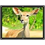 Inkach Projection Screen - Foldable 3D HD Movie Screen for Home Theater Outside - Portable Projection Screen Kit