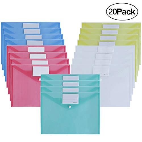 Ofilon File Envelopes, 5 Colors 12.5
