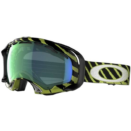 Oakley Shaun White Splice Highlight Adult Special Editions Signature Series Snocross Snowmobile Goggles Eyewear - Enamel Mint/Emerald Iridium / One Size Fits All