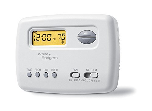 (Emerson 1F78-151 Single-Stage Programmable Digital Thermostat, 5-2 Day)