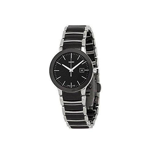 Rado-Centrix-Black-Dial-Two-tone-Ceramic-Ladies-Watch-R30935162