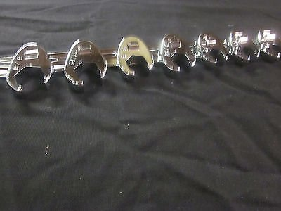 8pc CALHAWK FLARE NUT CROWFOOT WRENCH SET SAE